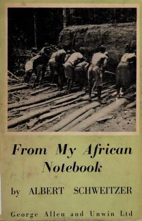Cover of: From my African notebook | Albert Schweitzer